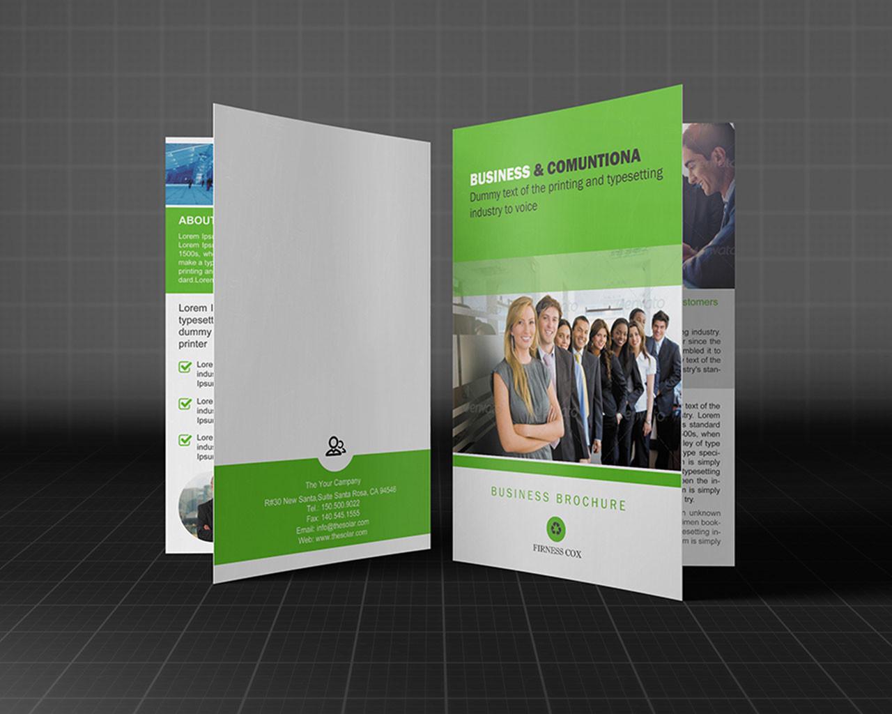 Bi-fold Brochure Customization Design ( 4 Page )