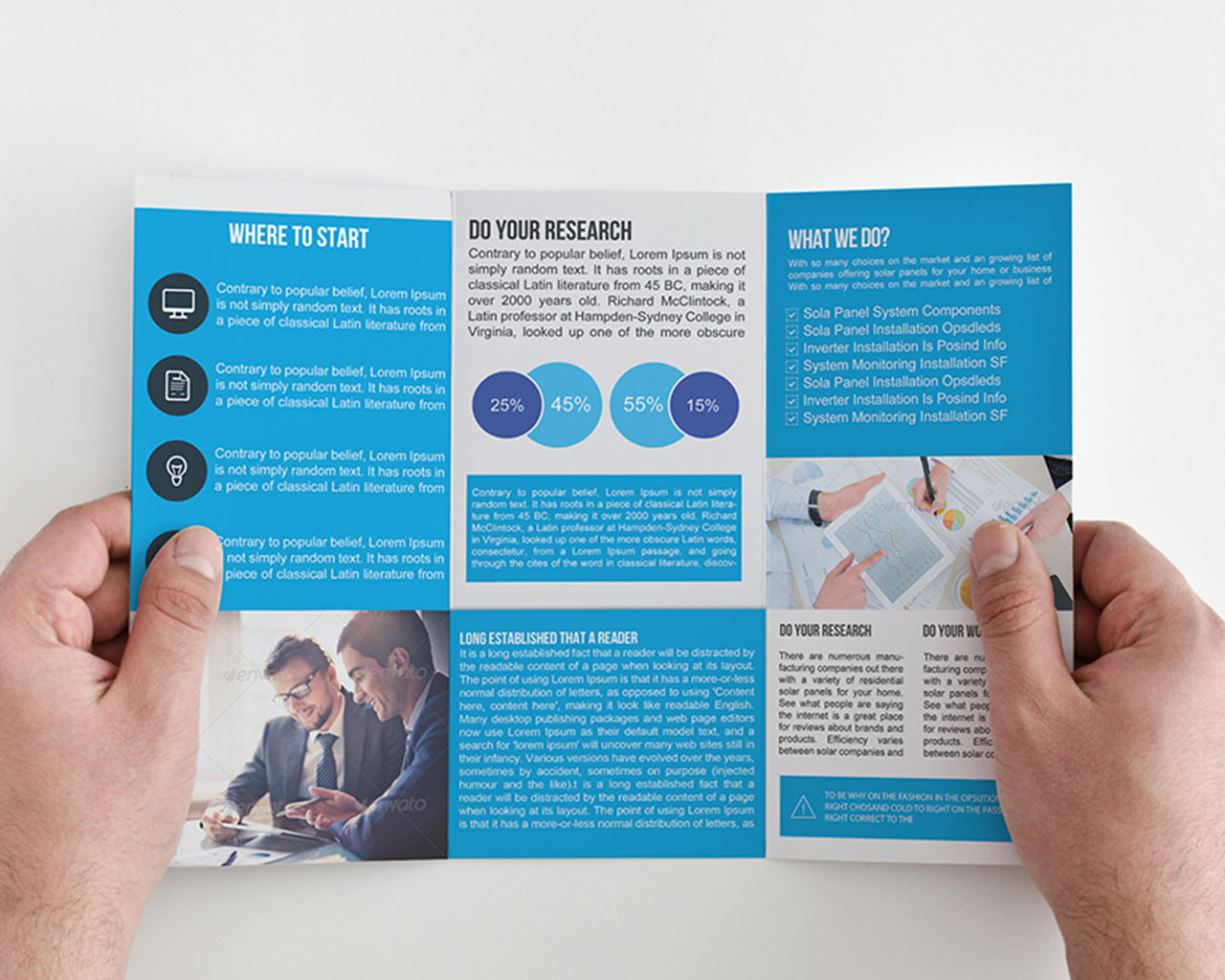 trifold template business brochure