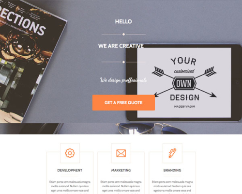 Agency Unbounce Template