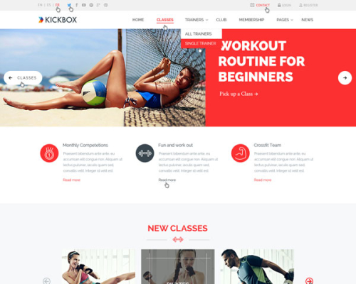 KickBox HTML Template