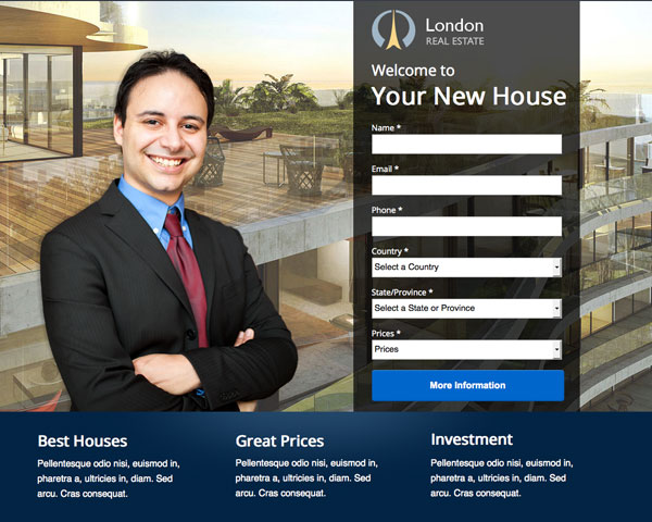 London - Real Estate Landing Page Unbounce - Coralix Themes