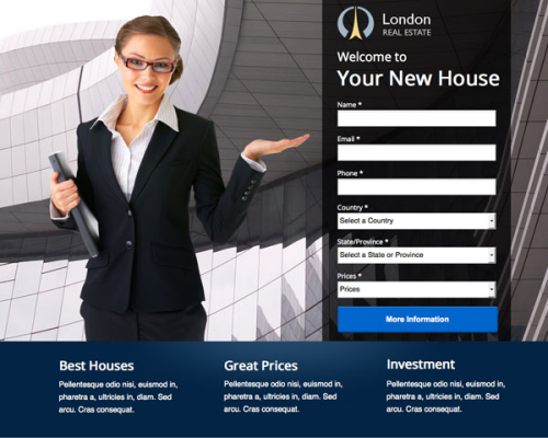 London Unbounce Template Woman