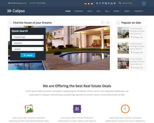 Calipso Responsive Real Estate Theme