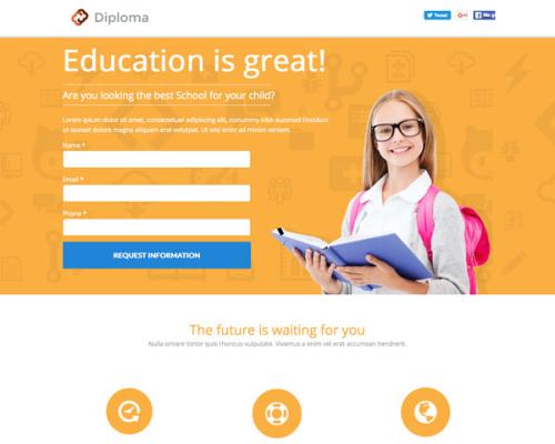 Diploma Landing Page Theme