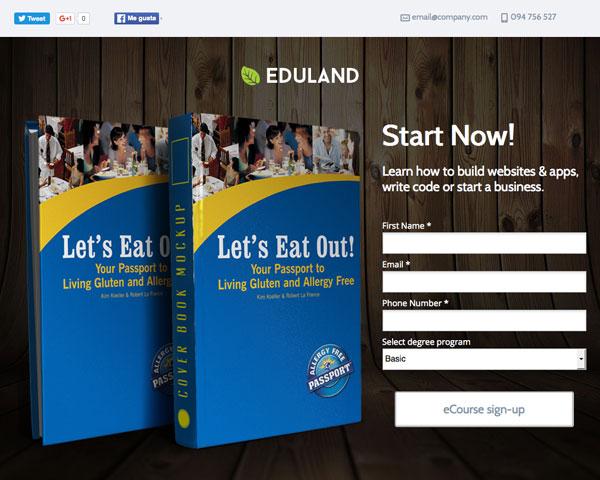 Eduland Education Bundle Unbounce Templates