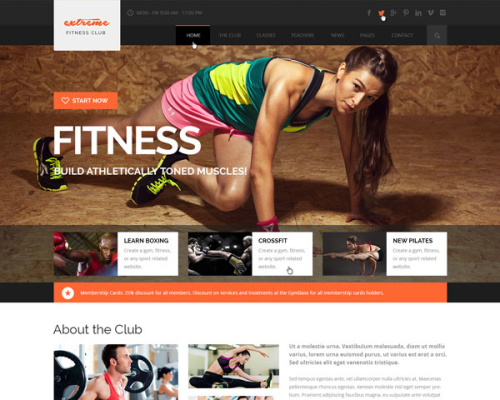 Extreme GYM Fitness Clean Template