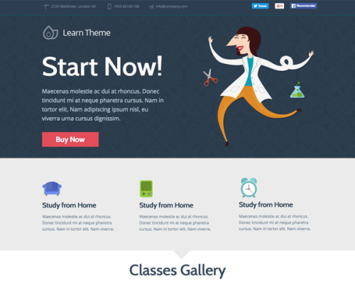 Learn - Unbounce Education Classes Landing Page