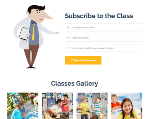 Learn - Education Classes Landing Page