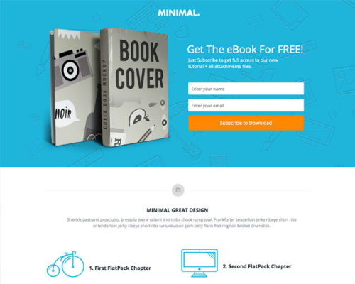 Minimal Book Instapage Template