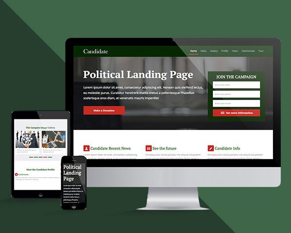 political-landing-template
