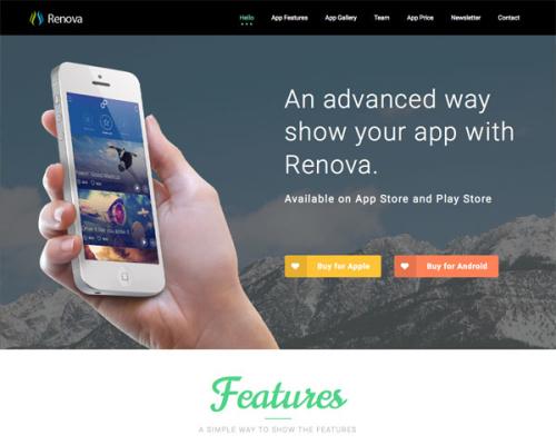 Renova Landing Page